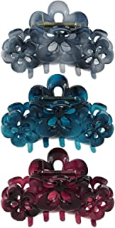 Fashion & Lifestyle 3 Pack 4-inch Large Hair Claws Jaw Clips for Women and Girls - Pretty Strong Clamp Non-Slip Barrettes ...