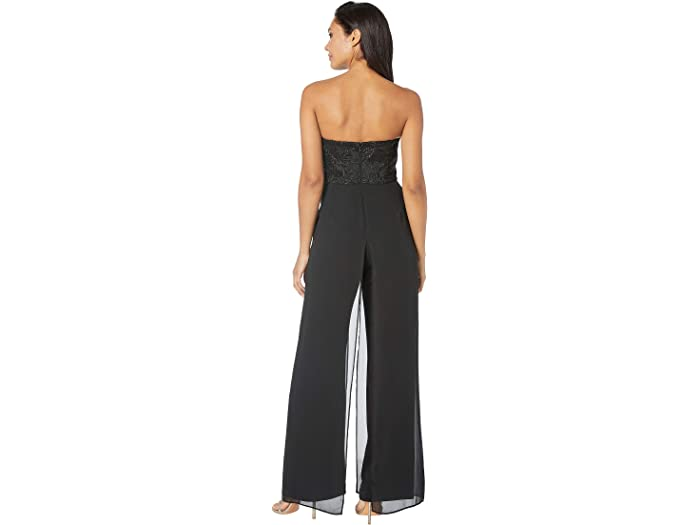 Adrianna Papell Womens Embroiderd Jumptsuit