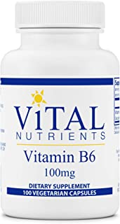 Vital Nutrients - Vitamin B6 - Healthy Nerve and Musculoskeletal Support - 100 Capsules per Bottle - 100 mg