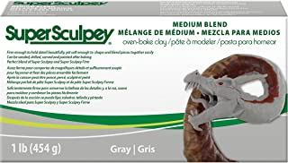 Polyform Super SCULPEY - 1lb/454g - Medium Blend - Grey Polymer Clay Accessory