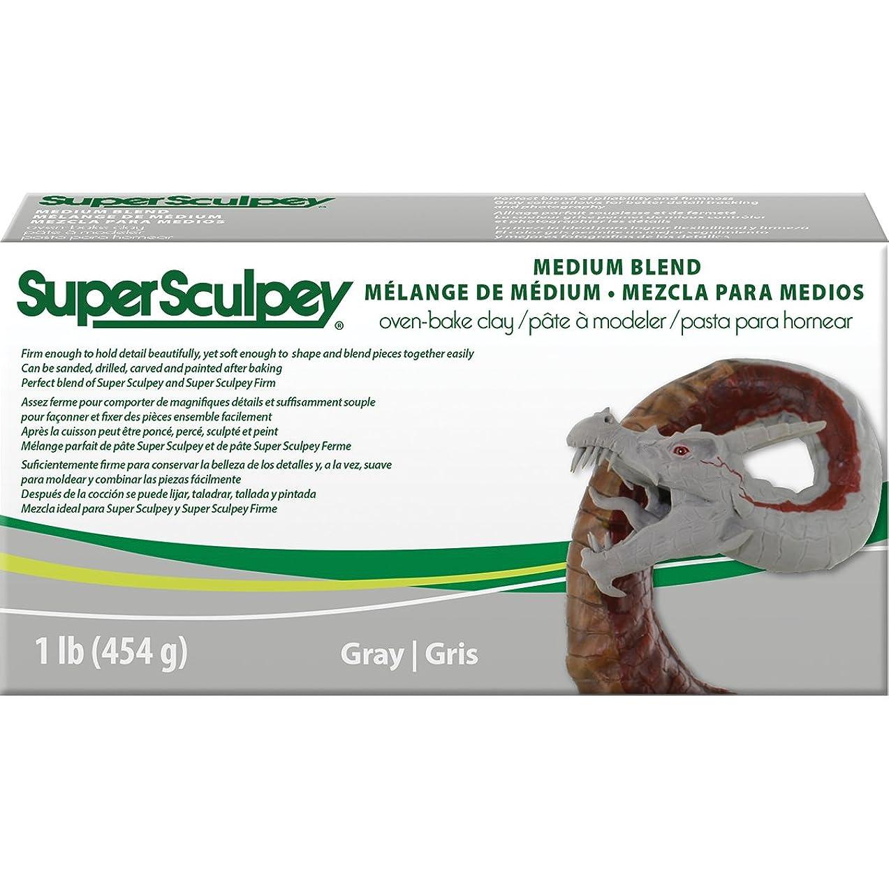 Super Sculpey SSMED1 1 lb Medium Blend, ys/m, Multicolor