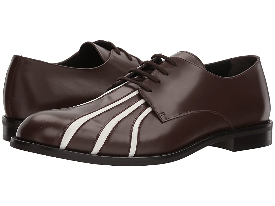 MARNI Seamed Oxford (Dark Brown/White) Men