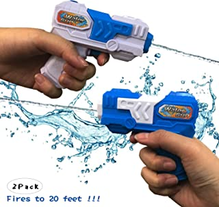 Water Guns for Kids Adults - 2 Pack Pocket Size Water Blaster Pistol & Squirt Guns Toy - Summer Swimming Pool Beach Sand Outdoor Water Fighting Play Toys Gifts