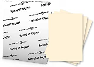 """Springhill 11"""" x 17"""" Ivory Copy Paper, 24lb Bond/60lb Text, 89gsm, 500 Sheets (1 Ream) – Colored Printer Paper with Smooth..."""