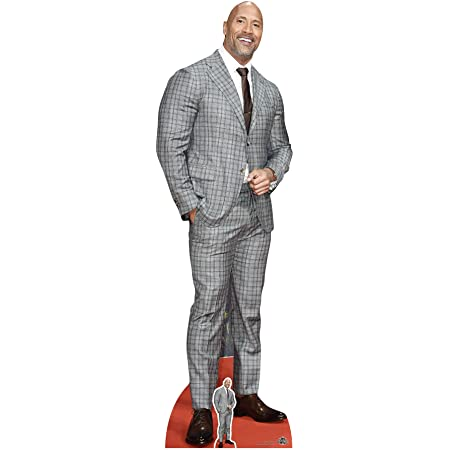 Star Cutouts Ltd Dwayne Johnson-Traje de Cuadros, cartón, Multicolor, 3 x 59 x 194 cm
