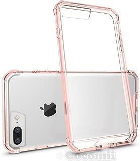 Cocomii Modern Armor iPhone 8 Plus/7 Plus Funda Nuevo [Claridad Cristalina] HD Anti-Amarilleo Anti-Rayado [Entallado] Transparente Case Carcasa for Apple iPhone 8 Plus/7 Plus (Mo.Crystal Pink)