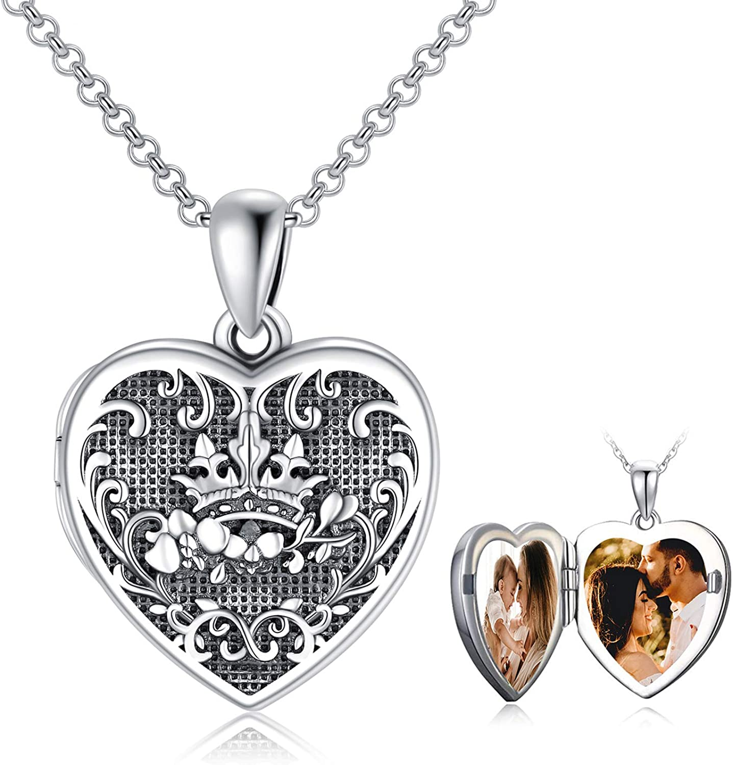 Photo Locket Necklace 925 Sterling Pictures mart Holds That Ph Silver Weekly update