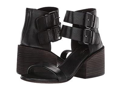 Marsell Stack Heel Double Strap Sandal (Black) Women