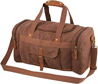 Neumora All-Match Style Canvas Duffel Bag Large Travel Bag Weekend Shoulder Bag for Men and Women (Brown)