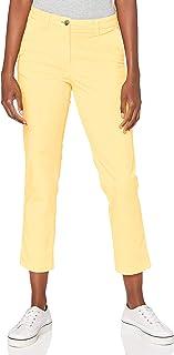 Tommy Hilfiger Pantalón de Tencel Y Algodón Teñido En Prenda Mujer