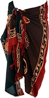 1 World Sarong Men's Abstract Tiki Sarong