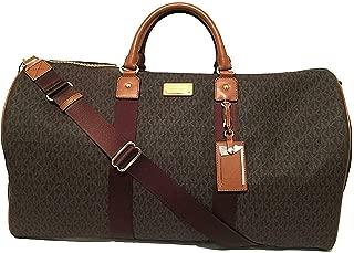 Michael Kors Leather Travel Logo Duffle Large Bag Printed Duffel Luggage