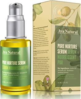 All Natural Face Serum Moisturizer - Vegan Anti Aging Anti Wrinkle Hydrating Daily Facelift Serum for Facial Dry Skin by Aya Natural