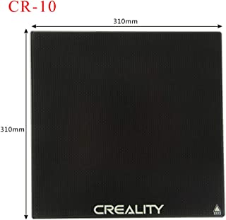 Tresbro Creality CR-10 Glass Bed 3D Printer Platformsfor CR-10/Cr-10s, Tempered Glass Plate Build Surface, 310x310x4mm