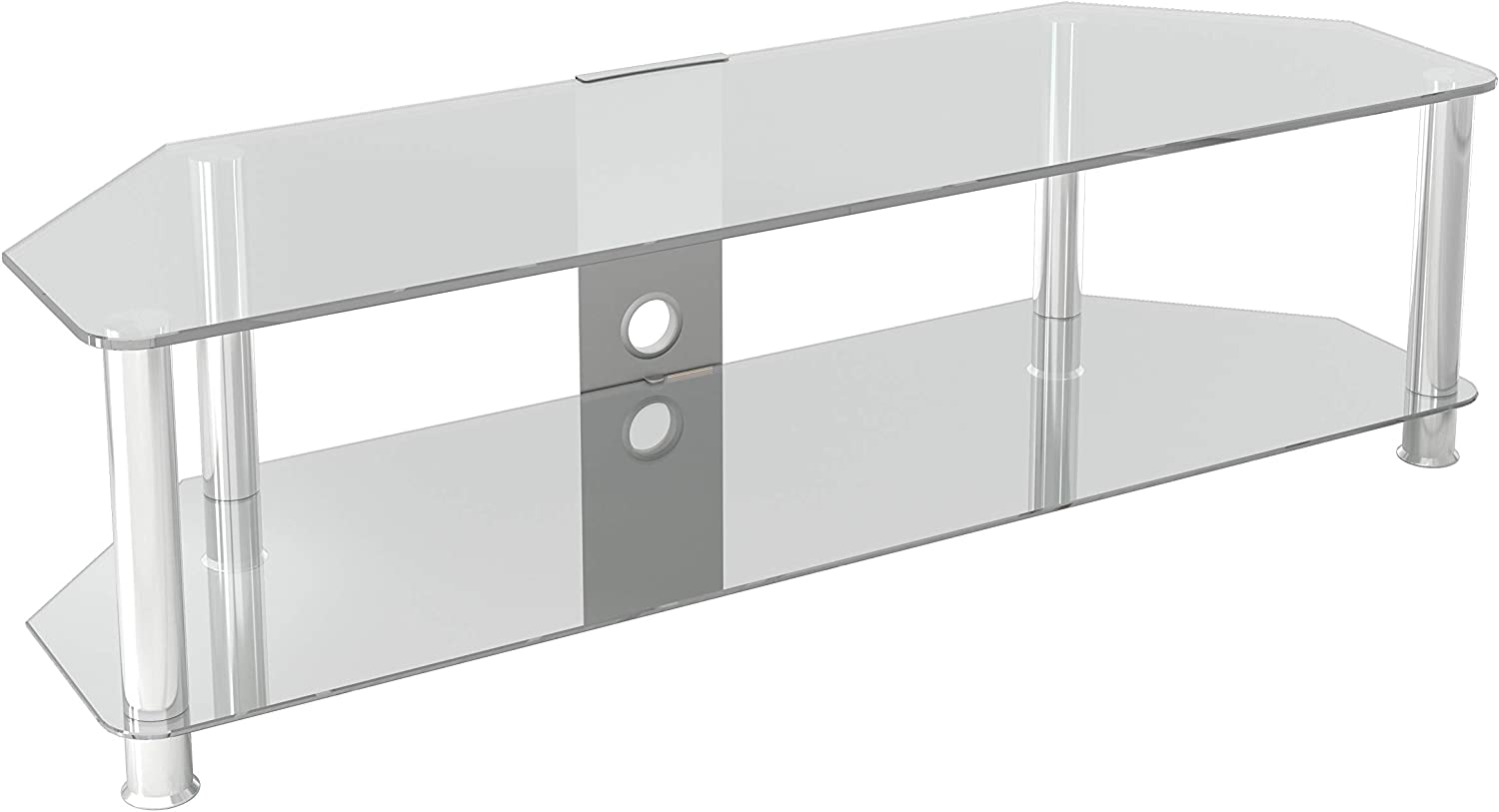 Mahara Clear Glass Max 80% OFF TV Stand Regular dealer - 140cm TVs up to for 65
