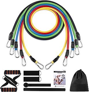 Yunjetech Motståndsband uppsättning, gummi träningsband med dörrankare, handtag och ben ankelremmar för träning, elastiska...