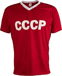 De Unión Soviética URSS CCCP 1970 Camiseta De Fútbol Retro De La Vendimia Hombres Más Clasic