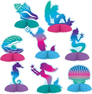 8Ct Mermaid Mini Tissue Centerpieces (Size: 3.6