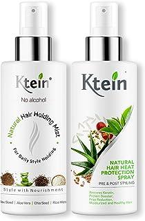 KTEIN HAIRSTYLE COMBO: Hair Heat Protection Spray 100ml + Hair Holding Spray 100ml