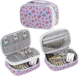 Teamoy Jewelry Travel Case, Jewelry & Accessories Holder Organizer for Necklace, Earrings, Rings, Watch and More, Roomy, C...