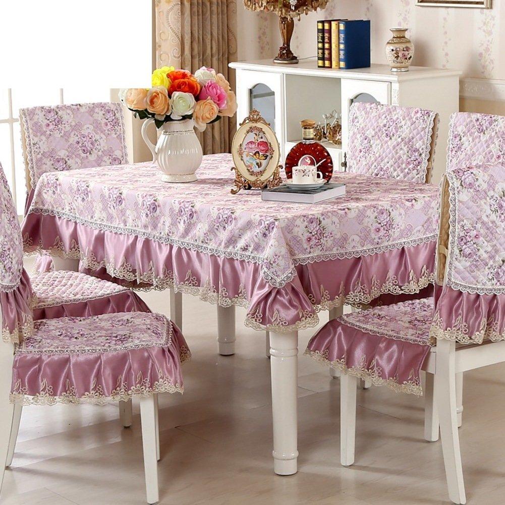 paño]/ mantel de jardín/Juego de sillas de comedor cojín/mantel/Cojín/ mantel/Set de cubre sillas manteles-F: Amazon.es: Hogar