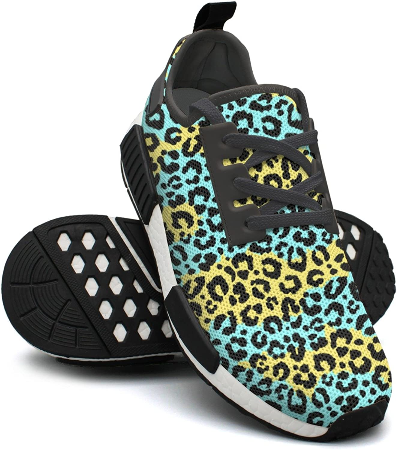 Green Leopard Print Gym Running Youth Women Running shoes NMD