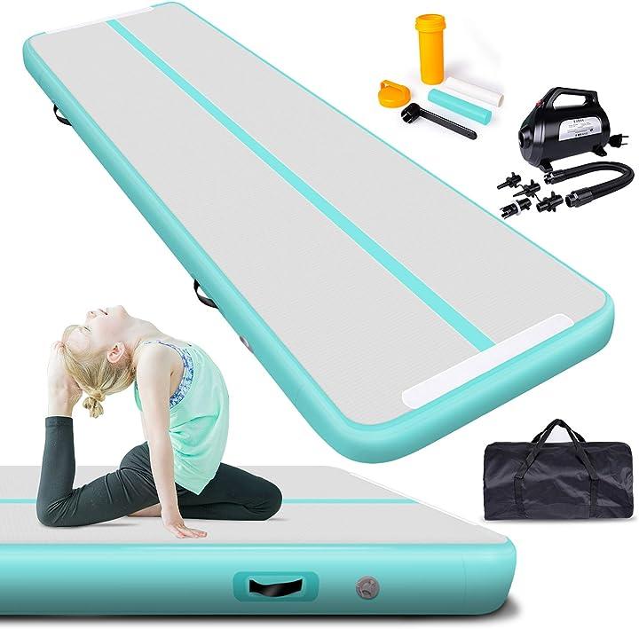 Tappetino da ginnastica gonfiabile airtrack/esterni/palestra/allenamento/tappeto con pompa ad aria 600 w B07F8VLLJT