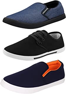 Chevit Men's Combo Pack of 3 Casual Shoes (Loafers& Sneakers Shoes)