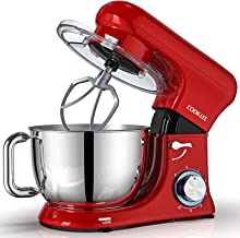 COOKLEE Stand Mixer, All-Metal Series 6.5Qt. Kitchen Electric Mixer with Dishwasher-Safe Dough Hooks, Flat Beaters, Whisk...