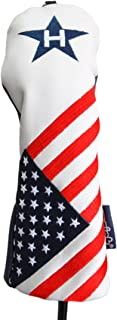 USA Pitching Wedge Hybrid Patriot Golf Limited Edition Vintage Retro U.S.A Leather Style Patriotic Rescue Head Cover