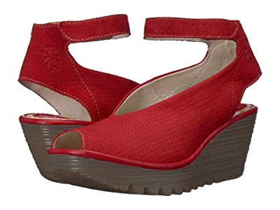 FLY LONDON Yala Perf (Lipstick Red Cupido/Mousse) Women