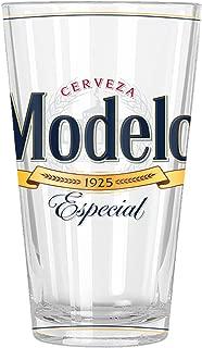 Silver Buffalo MOD20166 Modelo Label Pint Glass, 16-oz, Multicolor