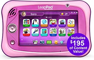LeapFrog LeapPad Ultimate Ready for School Tablet, Pink (Renewed)