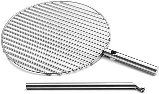 höfats - TRIPLE Grillrost 45 - verwandelt TRIPLE Feuerschale in einen Grill - höhenverstellbar und schwenkbar - Edelstahl - rund - Zubehör für CUBE Feuerschale