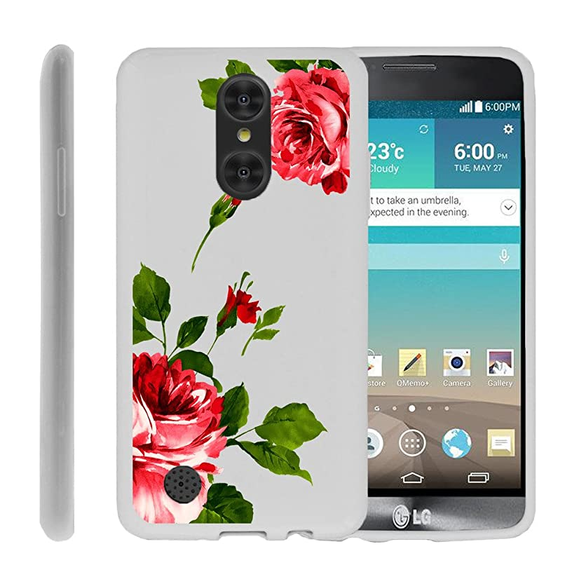 Flex Force by MINITURTLE Compatible with LG Aristo/Rebel 2/ Risio 2 / Phoenix 3 (LV3) Ultra-Clear Transparent Silicone Case - Affectionate Roses