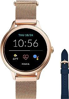 Fossil Connected Smartwatch Gen 5E para Mujer con tecnología Wear OS de Google, frecuencia cardíaca, GPS, NFC y notificaci...