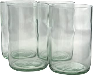 glasses made from recycled bottles