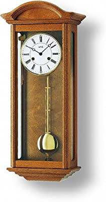 AMS Regulator Wall Clock with Aluminium dial, 14 Day Running time, from