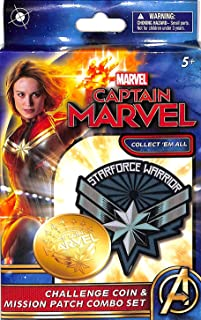 Captain Marvel ONE Mission Patch and ONE Coin Box