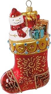 Hallmark Heritage Collection Christmas Stocking Blown Glass Ornament