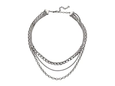 John Hardy Asli Classic Chain Link Multi-Row Necklace (Silver) Necklace