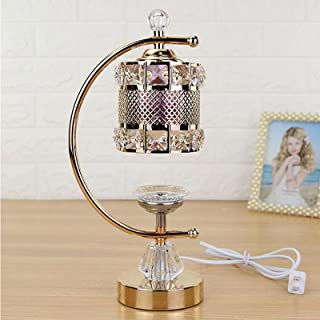 JINHAN Metal Electric Aromatherapy Lamp Beauty Salon Sleep Aid Humidification Aromatherapy Burner Essential Oil Lamp, Suit...