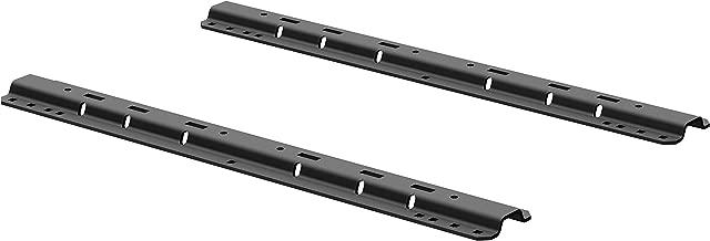 CURT 16204 Industry-Standard 5th Wheel Hitch Rails, Carbide Black