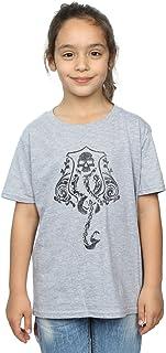 HARRY POTTER niñas Dark Mark Crest Camiseta 9-11 Years Gris Sport