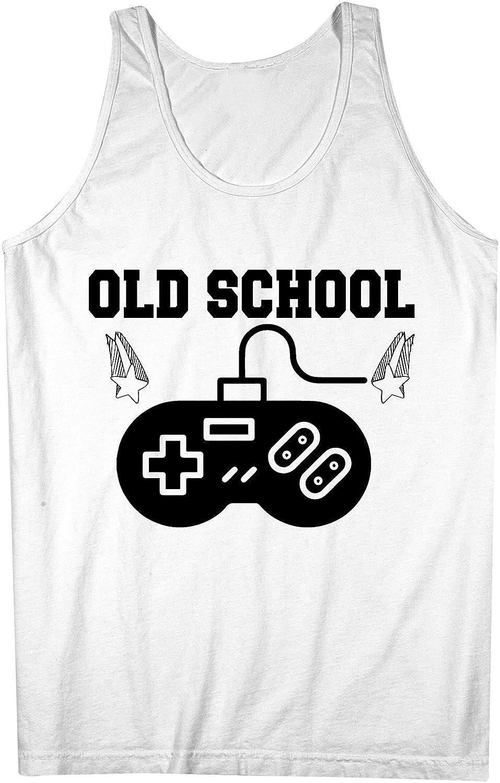 Old School Gamer Joystick Controller Nerd Geek Star おかしいです 男性用 Tank Top Sleeveless Shirt