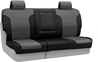 Coverking Custom Fit Front 60/40 Bench Seat Cover for Select Toyota T100 Models - Spacermesh 2-Tone (Gray with Black Sides)