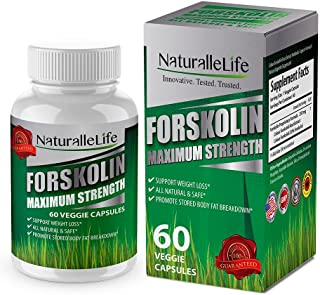 Forskolin Maximum Strength Forskohlii Extract for Weight Loss. Diet Pills & Belly Buster Supplement. Premium Appetite Suppressant, Metabolism Booster, Carb Blocker & Fat Burner for Women and Men.