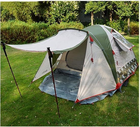 ZWYY Spacious,Anti-UVTente, extérieur Camping tentes d'escalade 3-4 Personnes léger imperméable à l'eau Coupe-Vent en Aluminium Tente,1,210  210  130cm