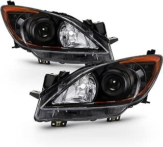 ACANII - For Black 2010-2013 Mazda 3 Mazda3 Headlights Headlamps Light Lamp Driver + Passenger Side 10-13
