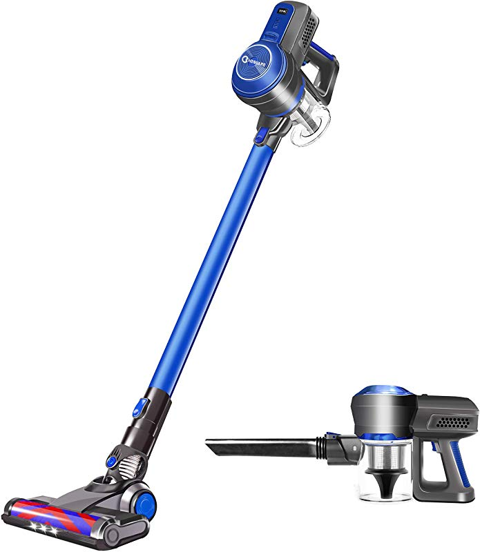 Cordless Vacuum Cleaner 18KPa Super Suction Pet Hair Eraser 4 In 1 Cordless Stick Vacuum Convenient Easy Empty Dirt Bin 35Min Long Lasting Lightweight Versatile With Multiple Brush For Home Car